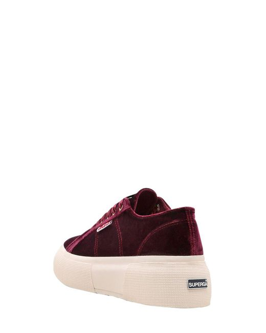 255f751e3fe ... Superga - Red Lvr Editions Velvet Platform Sneakers - Lyst ...