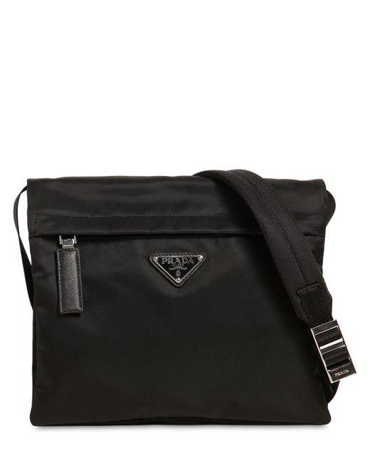 Prada - Black Sac Bandoulière En Nylon for Men - Lyst