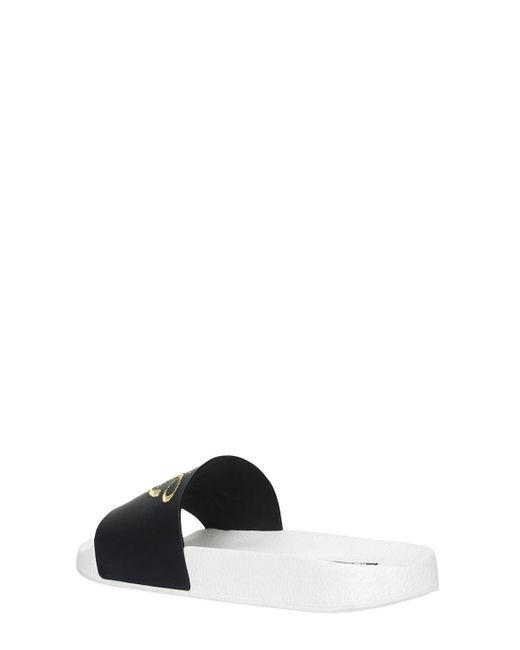 Dolce & GabbanaDG EMBROIDERY RUBBER SLIDE SANDALS bGTdjX
