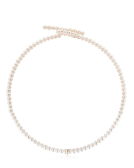 Saskia Diez - White Holiday Pearl Choker - Lyst