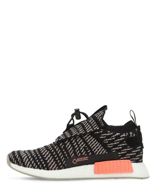 cf4e10166e43c6 ... Adidas Originals - Black Nmd Ts1 Primeknit Sneakers for Men - Lyst ...
