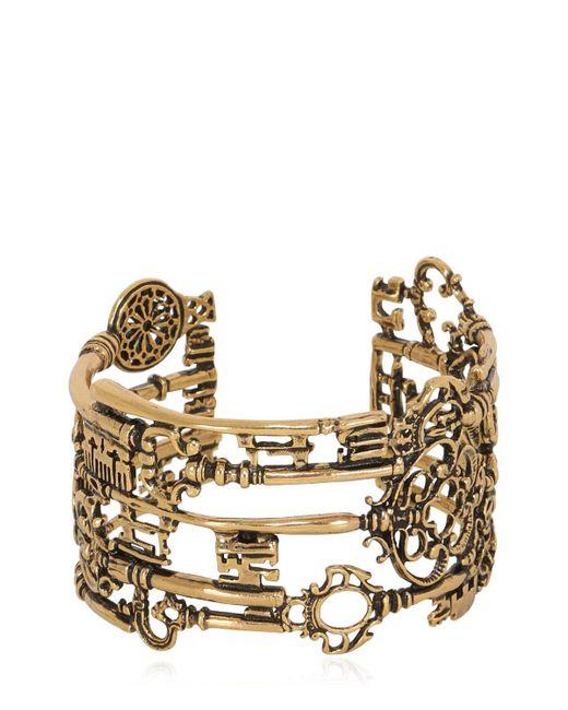 Alcozer & J | Metallic Barbablù Key Cuff Bracelet | Lyst