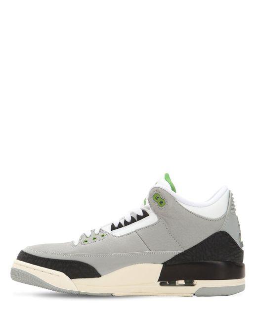 db622b80911 ... Nike - Gray Air Jordan 3 Retro High Top Sneakers for Men - Lyst ...
