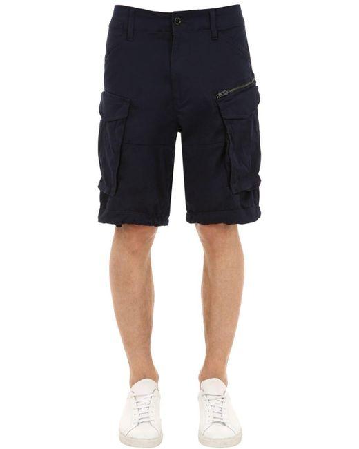 """G-Star RAW - Multicolor Shorts Cargo """"rovic"""" De Sarga De Algodón for Men - Lyst"""