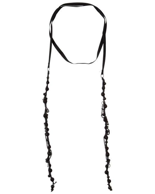 Ann Demeulemeester - Black Dusk Crinkle Beaded Necklace - Lyst