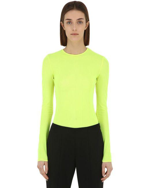 Maison Margiela - Yellow Body De Tul Stretch Transparente - Lyst