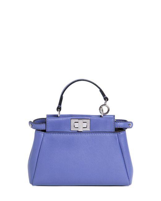 Fendi | Pink Micro Peekaboo Nappa Leather Bag | Lyst