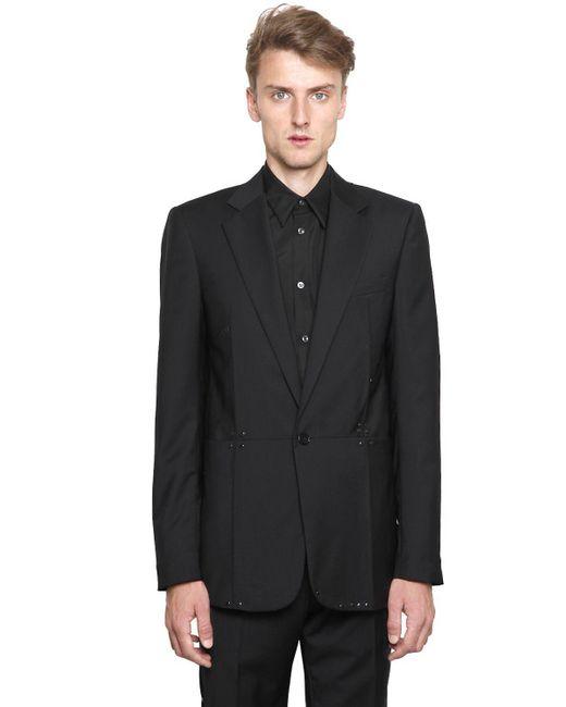 Maison Margiela   Black Studded Wool Poplin Jacket for Men   Lyst