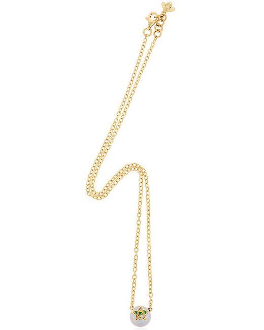 Carolina Bucci - Metallic Fresh Water Pearl & Diamond Necklace - Lyst
