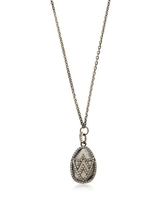 Jade Jagger - Metallic Chevron Shield Diamond Pendant Necklace - Lyst