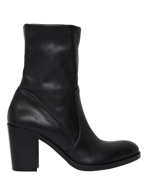 Strategia | Black 80mm Stretch Leather Ankle Boots | Lyst