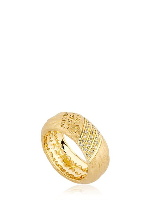 MARCO DAL MASO - Metallic The Other Half Ring With Diamonds for Men - Lyst