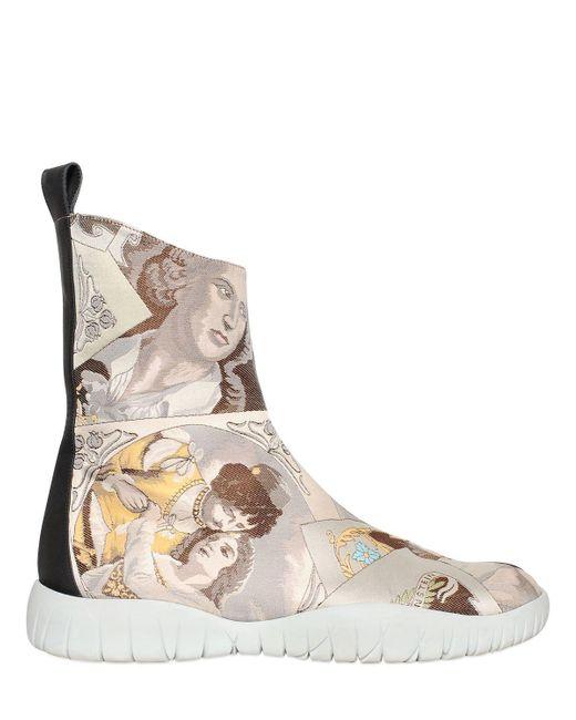 Maison Margiela | Multicolor Josephine Trek Tabi Ankle Boots | Lyst