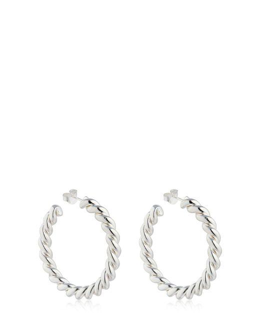 Isabel Lennse - Metallic Twisted Hoop Earrings - Lyst