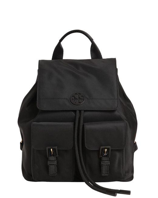 Tory Burch | Black Quinn Nylon Backpack | Lyst