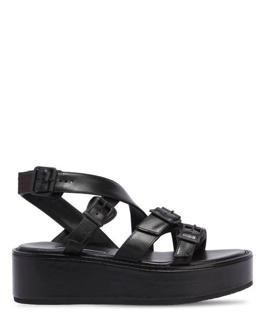 Ann Demeulemeester - Black 55mm Leather Wedges - Lyst