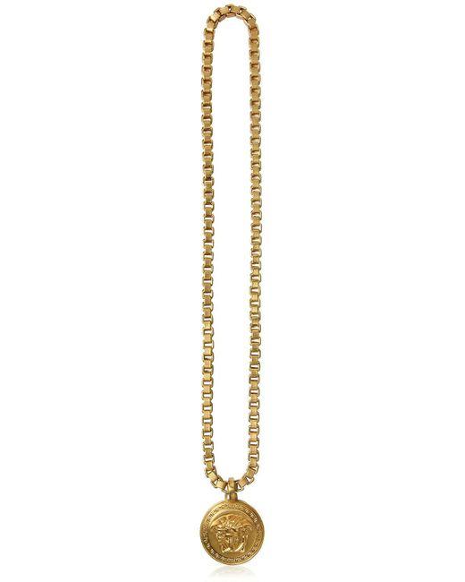 Versace - Metallic Collier Chaîne Avec Pendentif Méduse for Men - Lyst