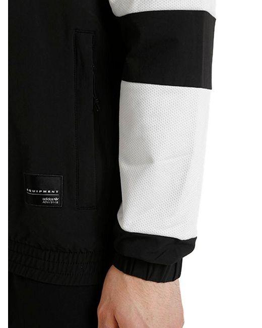 adidas originali eqt audace e nylon traccia giacca in nero per gli uomini.