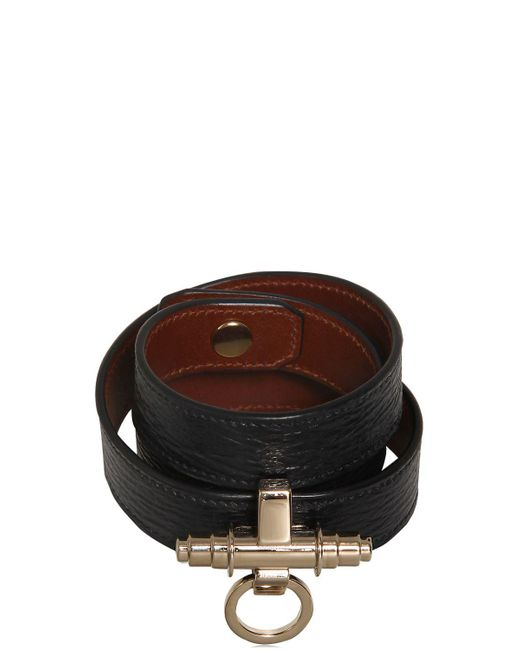 Givenchy | Black 3 Rows Obsedia Leather Bracelet | Lyst