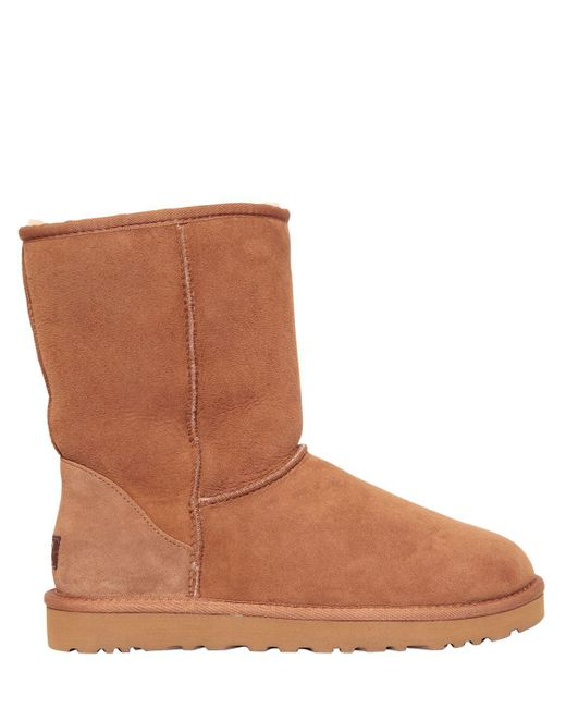 Ugg | Brown Classic Short Shearling Boots | Lyst