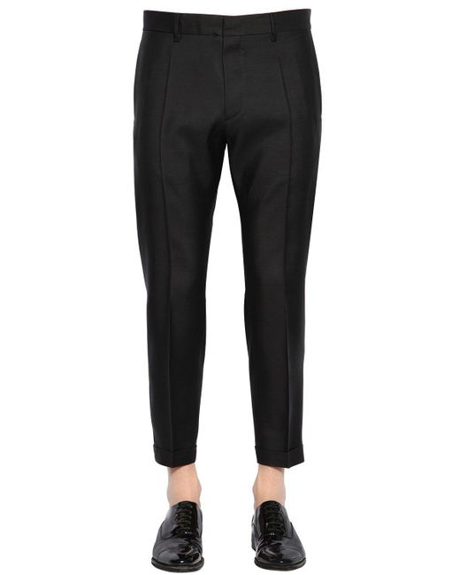 DSquared² - Black 17.5cm Admiral Virgin Wool & Silk Pants for Men - Lyst