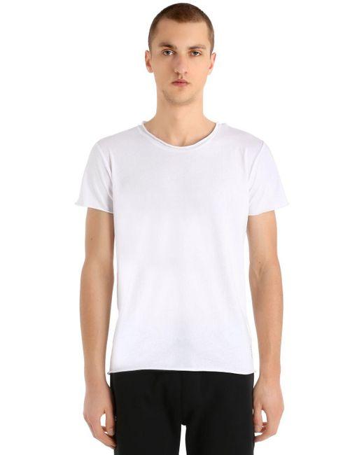 Calvin Klein - White Logo Detail Light Cotton Jersey T-shirt for Men - Lyst