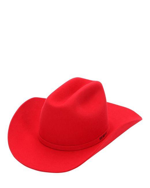 01b6f0146cf2 CALVIN KLEIN 205W39NYC - Red Rabbit Fur Felt Cowboy Hat - Lyst ...