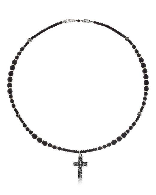 Cantini Mc Firenze - Black Cross Beaded Necklace for Men - Lyst