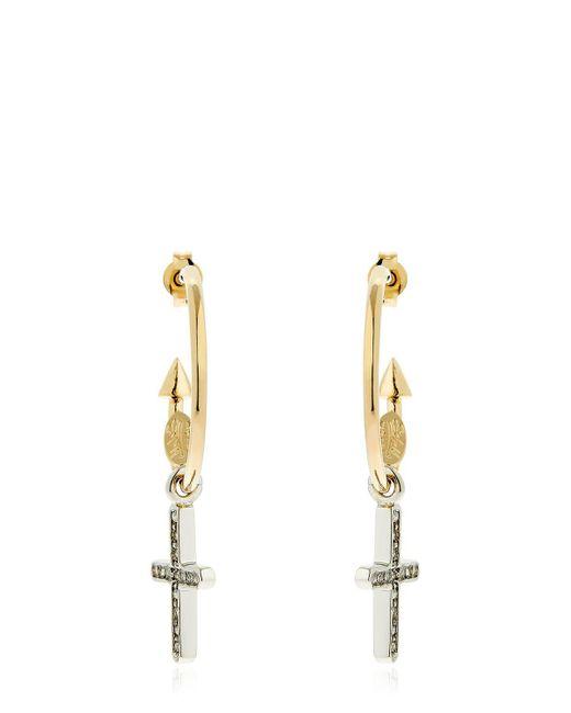 Schield - Metallic Charms Cross Earrings - Lyst