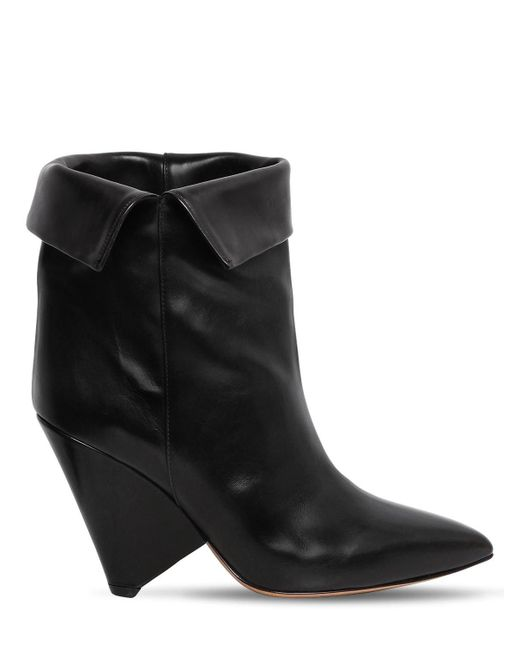 Isabel Marant - Black 90mm Luliana Leather Ankle Boots - Lyst