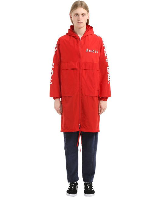"""Etudes Studio - Red Giacca A Vento """"never Mind"""" In Nylon - Lyst"""