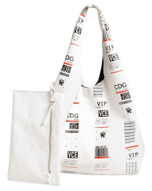 White Luggage Label Tote Maison Martin Margiela TcsCO