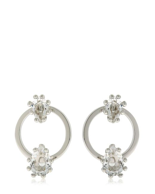 DSquared² - Metallic Jeweled Hoop Earrings - Lyst