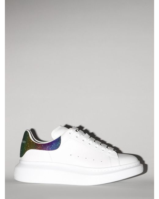 Alexander McQueen White Lvr Exclusive 45mm Leather Sneakers