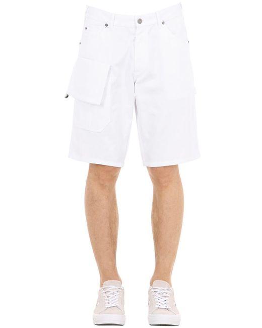 """Jacquemus - White Shorts """"le Short Gadjo"""" De Mezcla De Algodón for Men - Lyst"""