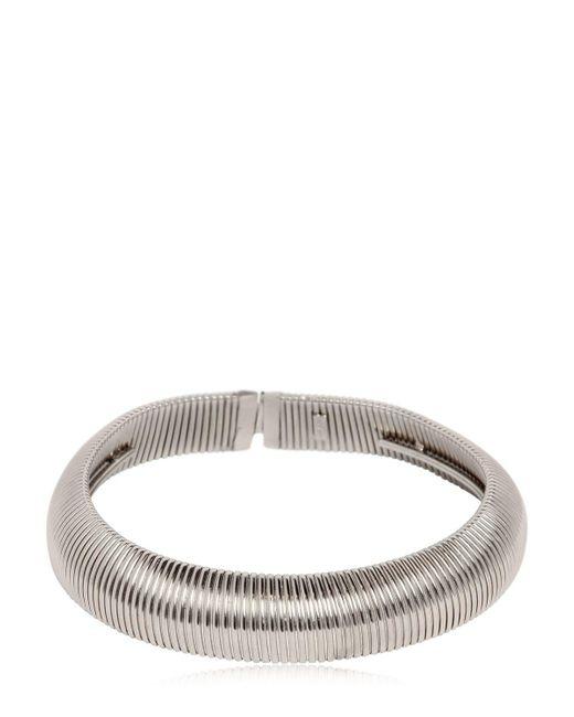 Saint Laurent | Metallic Serpent Oversize Brass Necklace | Lyst