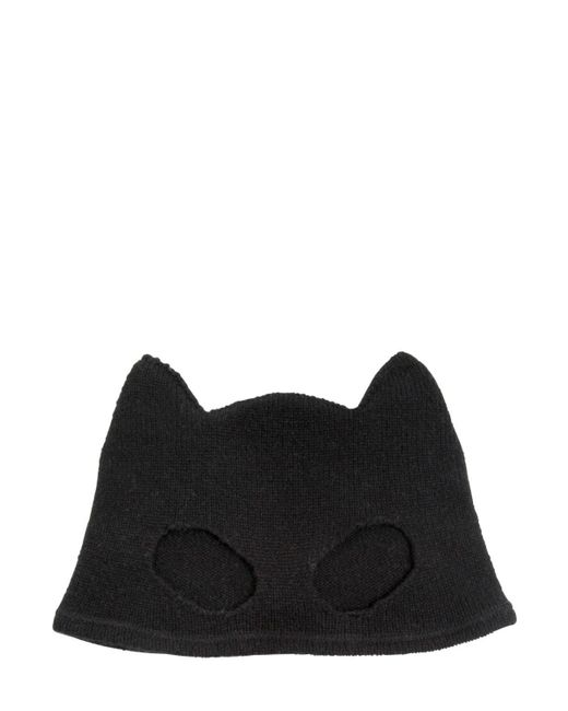 Silver Spoon Attire | Black Cashmere Mask Beanie Hat | Lyst