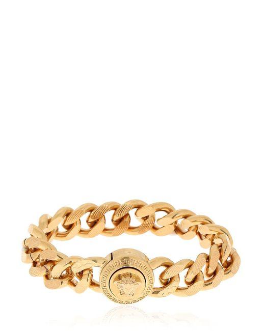 Versace Metallic Medusa Flat Chain Bracelet for men