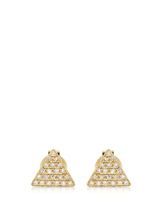 EF Collection | Metallic Triangle Diamond Stud Earrings | Lyst