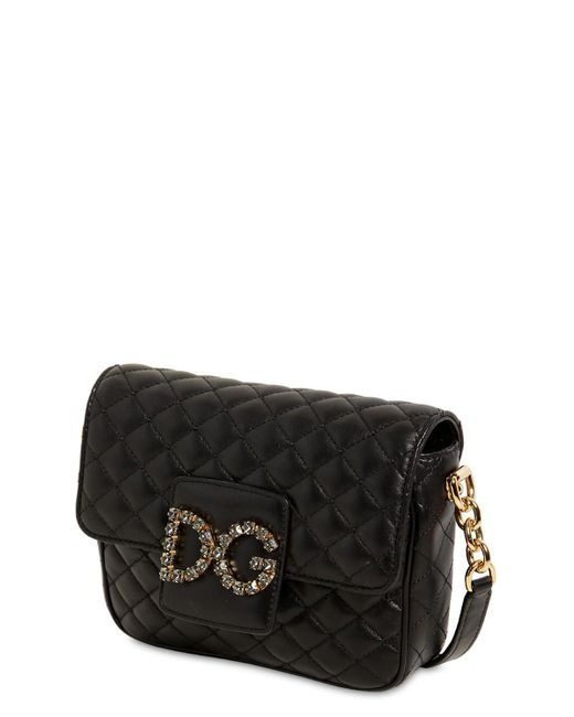 cc4a84b2cda8 ... Lyst Dolce   Gabbana - Black Small Millennial Quilted Leather Bag ...
