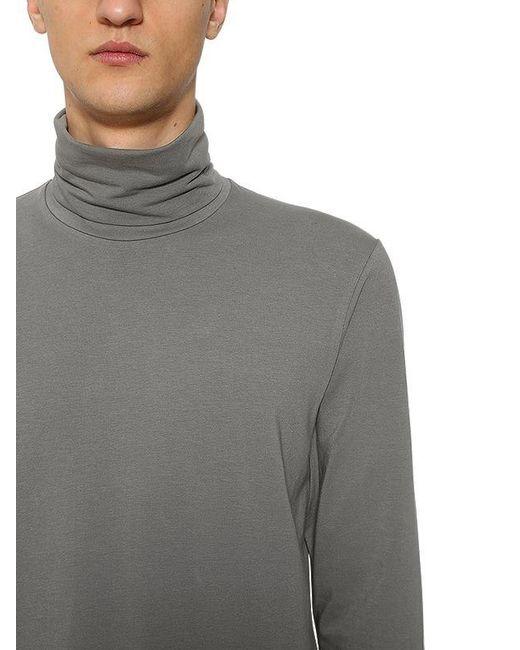 ... Jil Sander - Gray Cotton Long Sleeve Turtleneck T-shirt for Men - Lyst  ... 5e4a0b267d
