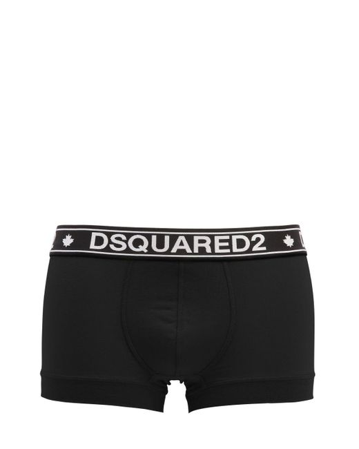DSquared² - Black Logo Band Boxer Briefs for Men - Lyst