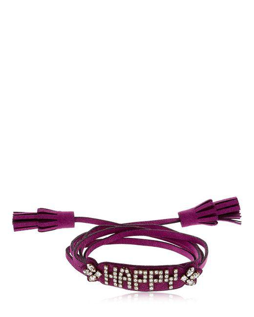 Shourouk   Purple Blabla Alcantara Bracelet   Lyst