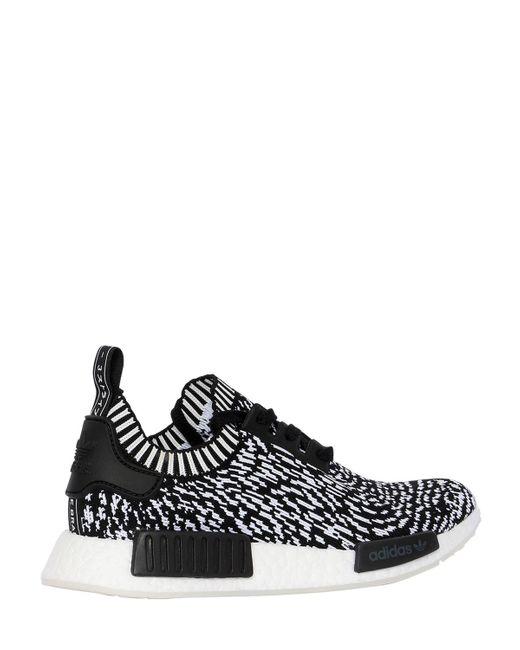 a965d4fd0de9bb ... Adidas Originals - Black Nmd R1 Primeknit Sneakers for Men - Lyst ...