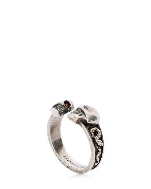Alexander McQueen - Metallic Skulls & Snakes Ring - Lyst