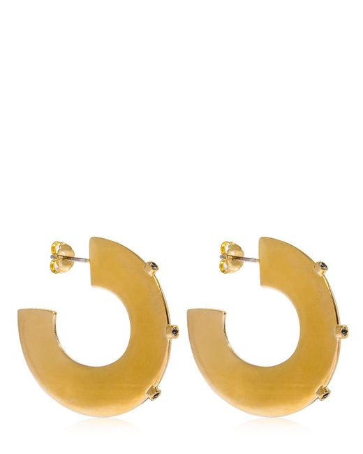 Elizabeth and James - Metallic Joni Hoop Earrings - Lyst