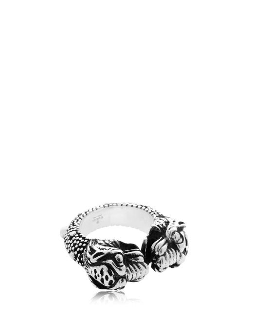 "Gucci - Metallic Anillo ""tiger Vintage"" for Men - Lyst"