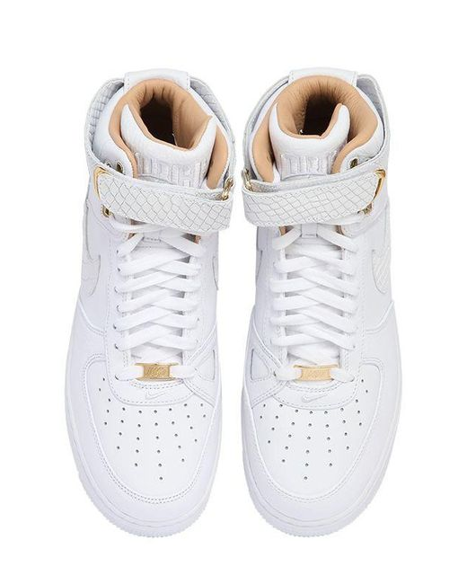 ... Nike | White Air Force 1 Hi Just Don Leather Sneakers for Men | Lyst ...