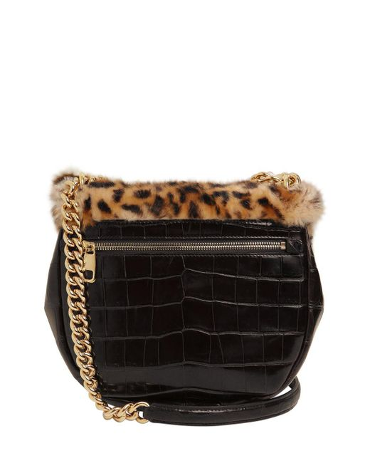 Dolce & Gabbana LEOPARD PLUSH & EMBOSSED LEATHER BAG 0Lfh3GXeJ