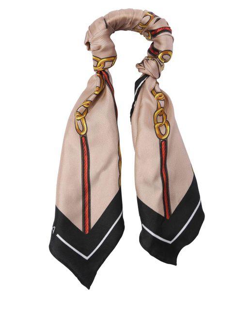 Balenciaga | Multicolor Chain Silk Twill Scarf Bracelet | Lyst